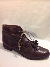 Top Shop Brown Ankle Leather Boots Size 39