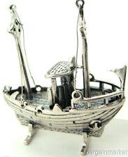 Miniature Mini Tug Boat Ship Solid Sterling Silver #230