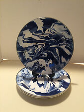 Pottery Barn Marbleized Enamelware Dinner Plates, Set of 4, New iwith tag