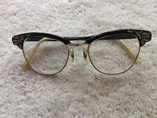 Vintage Universal Black Silver Cat Eye Cateye Frames Eyeglasses, 1/10 12K GF (9)
