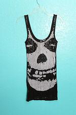 Iron Fist Misfits Skull Sequin Tunic Dress Tank Sample Punk Rock S Reatil $65