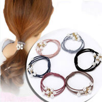5Pcs Women Girls Kids Hair Band Ties Rope Ring Elastic Hairband Ponytail Holder