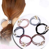 5Pcs Women Girls Kids Hair Band Ties Rope Ring Elastic Hairband Ponytail Holder