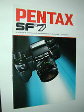 PENTAX  SF7 catalogue publicitaire photographie photo