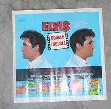 "Elvis Presley Original USA ""Double Trouble"" Ad Slick 13.5 x 13.5 inches 1967"