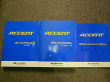 2007 HYUNDAI Accent Service Repair Shop Manual SET W ELECTRICAL WIRING MANUAL