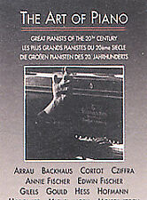 Art of Piano - Great Pianists of the 20th Century (Dvd, 2002) - Includes Book!