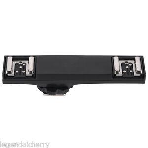 WS Dual Hot Shoe Flash Speedlite Light Bracket Splitter for Nikon DSLR TTL 2N