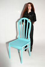 Furniture for Dolls 1/4 1:4 Tonner BJD Antoinette Cami chair 1pcs Tiffany blue