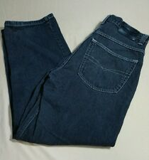 Anchor Blue 33x32 Baggy Mens Black Jeans 90's Skater Streetwear Distressed