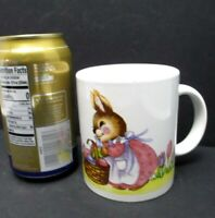 Vintage Easter Decor Mug Mrs Easter Bunny with Basket of Eggs McCrory Stores
