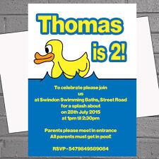 1st 2nd 3rd BABY FESTA DI COMPLEANNO INVITI Rubber Duck PISCINA X 12 H1302