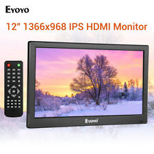 "12 ""Zoll Küche TV IPS Monitor mit TV / HDMI / VGA / AV / USB für PC Computer Hom"