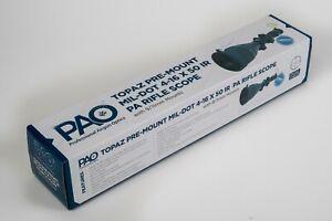 PAO® ILLUMINATED MIL-DOT 4-16 x 50 RIFLE SCOPE/ 9/11mm MOUNTS/ LENS COVERS