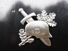 WH Stahlhelm Schwert Eichenlaub WWII WK2 WK1 Pin Wehrmacht Soldaten Oakleaf