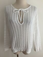 Pure DKNY Key-Hole Open-Knit Top Sweater Cover-Up Size M