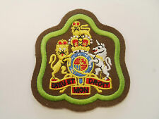 WARRANT OFFICER BADGE - KHAKI & GREEN - BRAND NEW - BRITISH ARMY - RGZ4