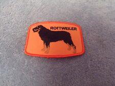 Rottweiler Dog Patch (Black/Orange)