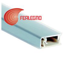 ALZATINA PVC BORDO SQUADRATO PIANO CUCINA CM.200X2,5X1H. COLORE INOX SATINATO