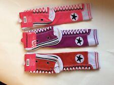 3 PAIRS WOMENS NOVELTY KNEE-HI SNEAKER SOCKS  *NWT *PINK/PURPLE/RED * FUN!