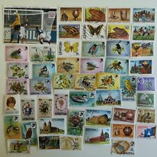 More details for 300 different lesotho stamp collection