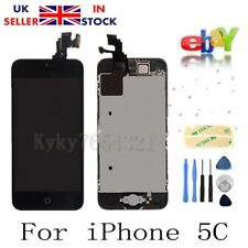 Black Touch  LCD Screen Digitizer Replacement+Camera+Home Button For iPhone 5C