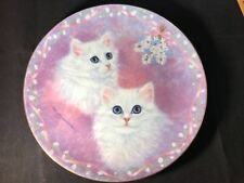 """Tasha and Tanya� The Danbury Mint Kitten Plate by Robert Gusman-Forbes. 1991"