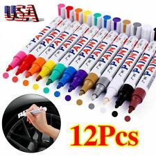 12Pcs Waterproof Permanent Paint Marker Pen Car Tyre Tire Tread Rubber Metal New