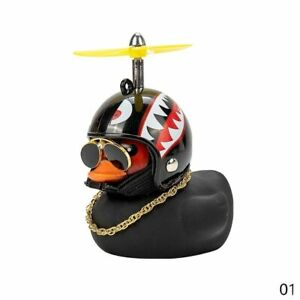 Car Dashboard Decoration Accessories Duck With Helmet And Chain Doll Toy For Fit