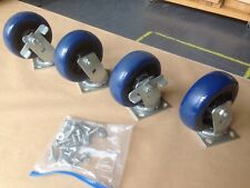 Four Faultless Heavy Duty Polyurethane 6 Swivel Casters With Fasteners