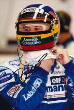 Jacques Villeneuve Signed 8X12 Inches Williams Renault F1 Photo