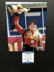 Brittany Force autographed signed 8x10 photo Beckett BAS COA NHRA Sexy Hot Rare