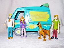 VTG Hanna Barbera Scooby Doo Mystery Machine Goo Crew Van w/ Action Figures VGUC