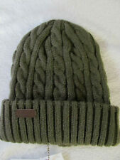 Barbour Balfron Cable Knit Beanie Watch Cap-Acrylic-Olive Green-One Size-NWT $49