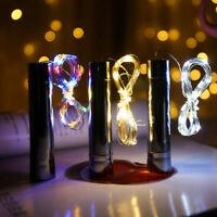10er 15er 20er LED Flaschenbeleuchtung Korken Lichterkette Batteriebetrieb DE AN