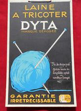 CARTON PUB : LAINE A TRICOTER DYTA    !