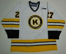 Game worn KINGSTON FRONTENACS Jersey Travis Lisabeth FIGHT STRAP 54 OHL used