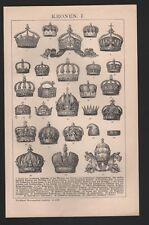 Lithografie 1902: KRONEN.I/II. Krone d Deutschen Kaiserin Sweden Norway Hungaria