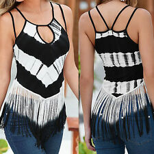 Women Ladies Sleeveless Vest Top Shirt Blouse Casual Tank Tops T-Shirt Summer AU