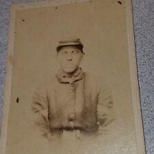RARE 1860s CIVIL WAR CDV of Soldier with Revenue Stamp