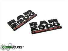 15-17 DODGE RAM 2500 HEAVY DUTY EMBLEM NAMEPLATE BADGE 2 (MATTE BLACK) NEW MOPAR
