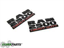 15-17 DODGE RAM 2500 HEAVY DUTY EMBLEM NAMEPLATE BADGE 2 (MATTE BLACK) NEW MOPAR