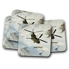 4 Set - CH-47 Chinook Helicopter Coaster - CH47 Plane Pilot Airplane Gift #15487