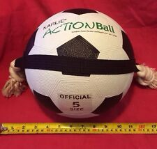 Dog Toy Action Ball  8.5 Inch Size 5 & Rope TOUGH TOY