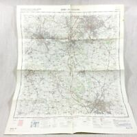 1971 Vintage Militare Mappa Di Leicester Derby Coalville Nottingham Beeston