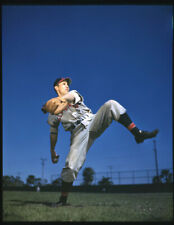 Bob Feller Cleveland Indians Baseball pitcher Original Iconic 5x4 Transparency