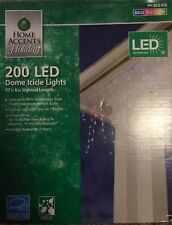 Home Accents Holiday 200-Light LED Multi-Color Icicle Dome Light Set