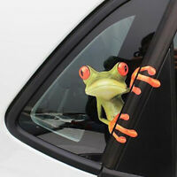 Funny 3D Car Styling Decor Green Lying Frog Wall Truck Window Decal Car Stickers