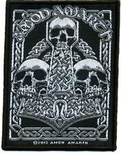 "Amon Amarth "" 3 Skulls "" Patch/Aufnäher 602164 #"