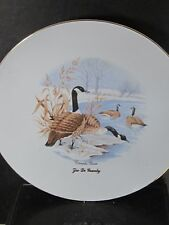 Zoo De Granby CANADA GEESE Geese In Snow Collector Plate